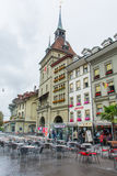 Öffnen Sie Straßenrestaurant in Bern die Schweiz Lizenzfreie Stockfotografie
