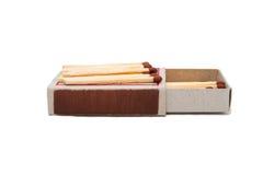 Öffnen Sie Streichholzschachtel mit Match Lizenzfreies Stockbild