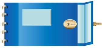 Öffnen Sie Tagebuch. Vector Abbildung EPS10. Lizenzfreies Stockfoto