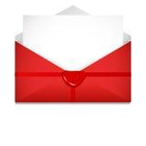 Öffnen Sie Umschlag Dichtungswachs St.-Valentinsgruß ` s Tageskonzept stock abbildung