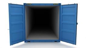 Öffnen Sie Versandbehälter Lizenzfreies Stockfoto
