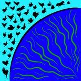Öffnen Sie Vogelflügel Lizenzfreies Stockbild
