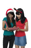 Öffnen Sie Weihnachtskasten Lizenzfreie Stockfotografie