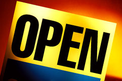 Öffnen Sie Zeichen Lizenzfreie Stockfotos