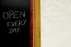 Öffnen Sie Zeichen stockfotografie