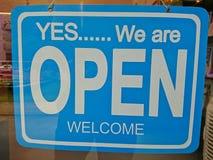 Öffnen Sie Zeichen Lizenzfreies Stockbild