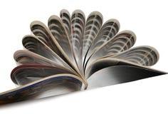 Öffnen Sie Zeitschrift Stockbild