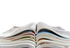 Öffnen Sie Zeitschriften Lizenzfreie Stockfotografie
