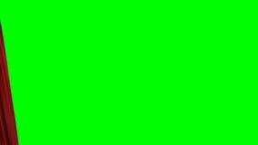 Öffnen und schließend roter Vorhang stock abbildung