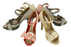 Öffnen-Zehe Schuhe stockfotos