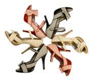 Öffnen-Zehe Schuhe stockbild