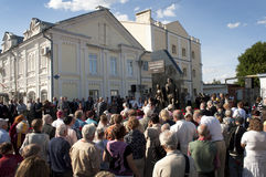 Öffnung des Denkmales in Engelise. Stockbild