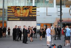 Öffnung des König-Tut Exhibition Melbourne Stockbilder