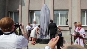 Öffnung des Monuments stock footage