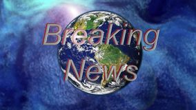 Öffnungs-Grafik der letzten Nachrichten Fernseh stock video footage