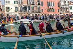 Öffnungs-Karnevalsprozession in Venedig, Italien 14 Lizenzfreies Stockfoto