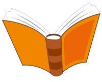 Öffnungsbuch auf Weiß Lizenzfreies Stockbild