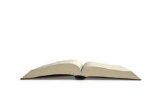 Öffnungsbuch lokalisiert in whte Hintergrund, Wiedergabe 3D Lizenzfreies Stockfoto
