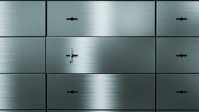 Öffnungssicherheits-Schließfach stock abbildung