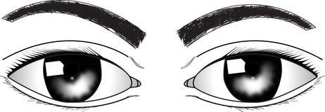 Öga royaltyfri illustrationer