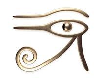 Öga av den Horus 3d tolkningen royaltyfri illustrationer