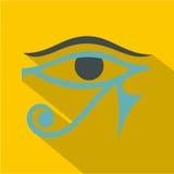 Öga av den Horus symbolen, lägenhetstil stock illustrationer