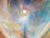 Öga av guden royaltyfri illustrationer