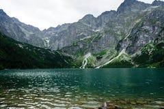 Öga av hav sjön i Tatra Royaltyfri Bild