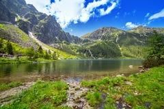 Öga av hav sjön i Tatra berg Arkivbilder