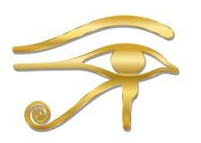 ?ga av Horus det guld- symbolet stock illustrationer