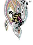 Öga. färgpulver bläckar ner diagram Royaltyfri Bild