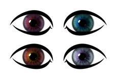 Öga för färgmodellregnbåge ögoniristexturer vektor illustrationer