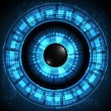Öga för teknologi för vektorbakgrundsabstrakt begrepp Royaltyfria Bilder