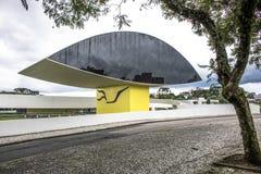 Öga i det Oscar Niemeyer museet arkivfoton