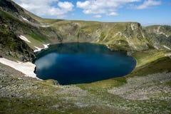 Öga sjön, de sju Rila sjöarna, Rila berg Arkivfoton
