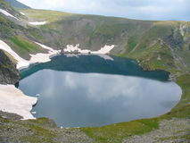 Öga sjön i Rila Arkivbilder