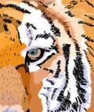 Ögat av tigern - Digital konst vektor illustrationer