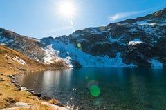 Ögat - det djupast av de is- sjöarna, Rila berg, Bulga Royaltyfri Bild