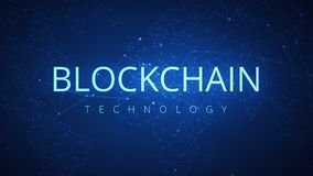 Ögla för bakgrund för hud för Blockchain teknologi futuristisk abstrakt stock video