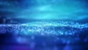 Ögla för bakgrund för rörelse för partikelvåg 4K royaltyfri illustrationer