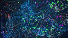 Ögla för nerv- nätverk stock video