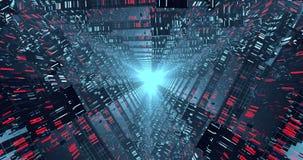 Ögla för science fictiontunnel VJ stock video