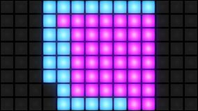 Ögla för vj för bakgrund för raster för färgrik vägg för diskonattklubbdansgolv glödande ljus arkivfilmer