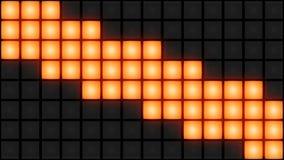 Ögla för vj för bakgrund för raster för orange vägg för diskonattklubbdansgolv glödande ljus arkivfilmer