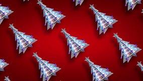 Öglan res för trädet för julgarneringxmas blänker v3 arkivfilmer