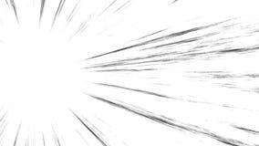 Öglasanimering av komiska hastighetslinjer Manga Frame Style överrrakning royaltyfri illustrationer