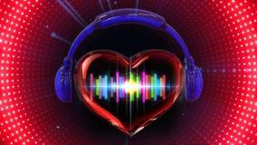 Öglasbakgrund för musik VJ stock illustrationer