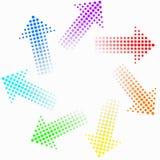 öglasregnbåge royaltyfri illustrationer