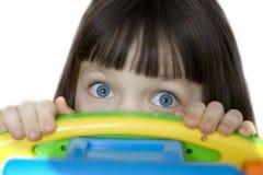 ögon öppnar förvånadt brett Fotografering för Bildbyråer