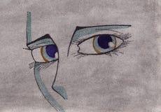 ögon vektor illustrationer